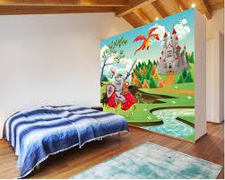 chambre chevalier personnalisé enfants de revêtements muraux brave chevalier château