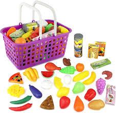 Toy Kitchen Set Food Amazon Com Click N U0027 Play 33 Pc Kids Pretend Play Grocery