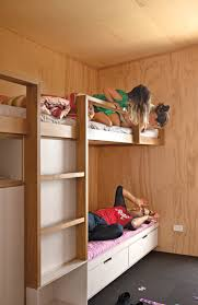 In A Compact New Zealand Beach House Spacesaving Bunk Beds Offer - Living spaces bunk beds
