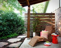 Backyard Privacy Fence Ideas Privacy Fence Idea With Pebbles Patio Contemporary And Round