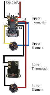 electric water heater thermostat wiring diagram gooddy org