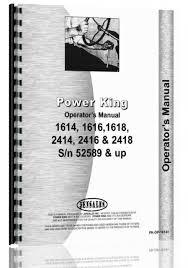 power king 1614 1616 1618 2414 2416 2418 tractor operators