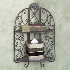 Wrought Iron Bathroom Shelves Bathroom Wrought Iron Corner Wall Towel Shelf Interesting Chic
