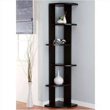 Black Corner Bookcase Decoration Modern Corner Bookcase Bookshelves Info Pertaining To