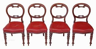William Iv Dining Chairs Set Of 4 William Iv Mahogany Balloon Dining Chairs Antiques Atlas