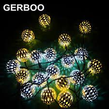10 led solar powered string lantern led fairy light outdoor garden