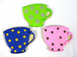 tea cup favors tea party favors cookies