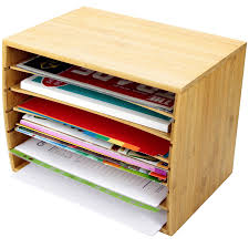Desk Organizer Sorter by Woodquail Bamboo Desktop Literature File Sorter A4 Document