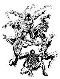 14 images of deviantart coloring pages of spider man 2099 spider