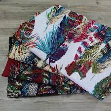 100 140cm feather print fabric cotton linen patchwork material