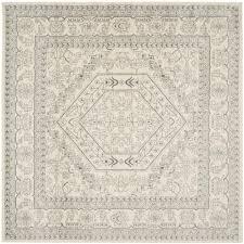 safavieh paris shag silver 9 ft x 9 ft round area rug sg511 7575
