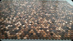 Bathroom Floor Pennies Tile Sheets Made With Pennies The Real Penny Mosaic Tile See