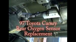 1997 toyota camry v6 rear downstream oxygen o2 sensor remove