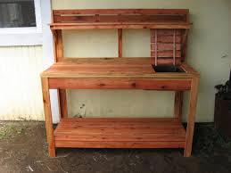 potting bench plans family handyman bench decoration