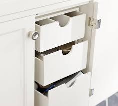 bathroom sink storage ideas sink console storage drawers pottery barn