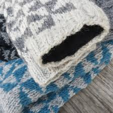 aneka wool knitted pattern slipper house socks by aura que