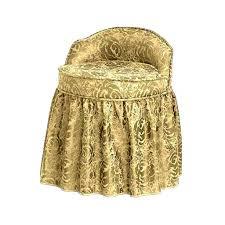 Vanity Chair Bathroom by Bathroom Personable Vanity Chair Skirt Floral Pattern White