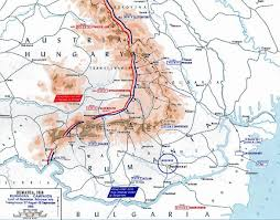 Map Of Romania Of Wwi Romanian Campaign Aug 27 Sep 18 1916