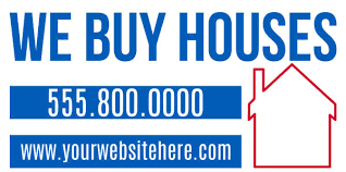 yard lawn signs for we buy ready2print