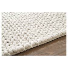 wool hand woven chunky woolen cable rug nuloom target
