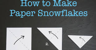 craftiments how to make paper snowflakes