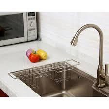 kitchen sink cabinet sponge holder stainless steel kitchen sink caddy organizer for soap brush