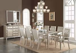 Zebra Dining Room Chairs Paparazzo Mirrored Dining Table With Zebra Chairs By Bassett