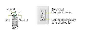 ge z wave wireless lighting control duplex receptacle jasco