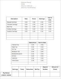paycheck stub creator free pay stub template free word pdf excel