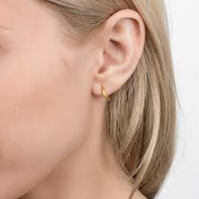 small gold hoop earrings small hoop huggies earrings gold dipped dogeared