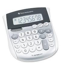 Small Desktop Calculator For Windows 8 Texas Instruments Ti 1795sv Minidesk Calculator 8 Digit Lcd