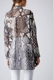 snake print blouse lyst topshop oversized snake print shirt