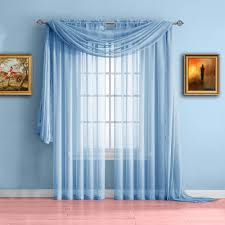 Baby Blue Curtains Warm Home Designs Baby Blue Window Scarf Valance Sheer Blue