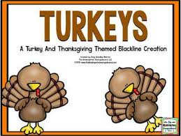 turkeys blackline thanksgiving math and literacy center creation