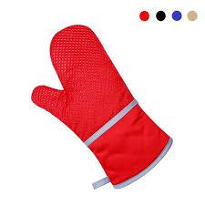 gant de cuisine anti chaleur 1 pcs cuisson gants silicone coton épaissir micro ondes four non