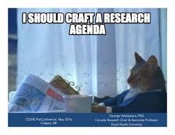 Agenda Meme - crafting a research agenda in memes