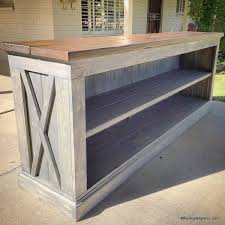 Farmhouse Console Table Remodelaholic Pottery Barn Inspired Modern Rustic Console Table