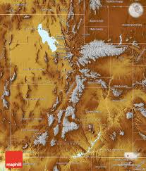 Map Of Utah by Physical Map Of Utah