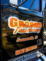 custom vinyl lettering summerville signs and banners truck