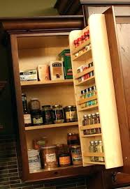kitchen cabinet door organizers spice rack storage ideas cabinet door storage kitchen cabinet