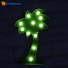 lumiparty 3d marquee letters led coconut tree light baby