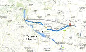 Kiev Map To Kharkiv To The Russian Border Language Tsar