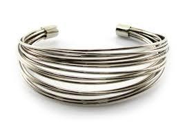 silver wire bangle bracelet images 18 mm width multi wire silver tone base cuff bracelet adjustable jpg