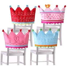 birthday chair cover crown chair covers for a girl s party 16 at