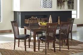 7 Pc Dining Room Set Signature Design By Ashley Mallenton Medium Brown 7 Piece Dining