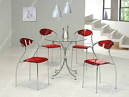 Round Glass Dining Table And Chairs Modern Round Glass Dining Table