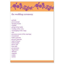 do it yourself wedding programs purple orange wedding program templates danielle violet do it