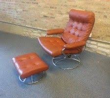 Stressless Chair Prices Vintage 70 U0027s Chrome Ekornes Stressless Recliner Lounge By Midcmad