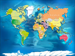 World Map Poster Large Large World Map With Countries Throughout Big Roundtripticket Me