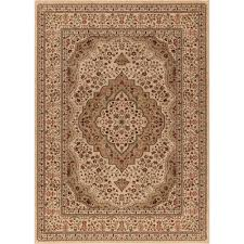 Concord Global Area Rugs Concord Global Trading Ankara Kerman Ivory 7 Ft 10 In X 10 Ft
